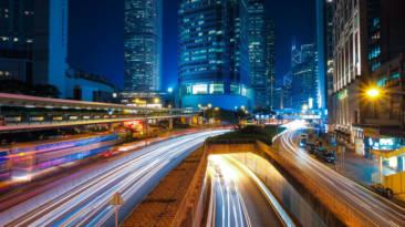 ciudad conectada noche