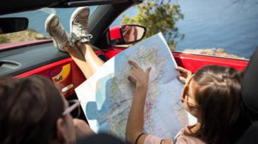 vacaciones mapa coche