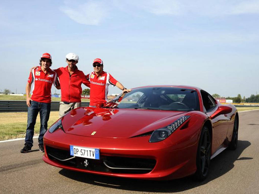 Fernando Alonso Ferrari 458 Italia