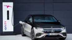 Mercedes-Benz EQS arga IONITY