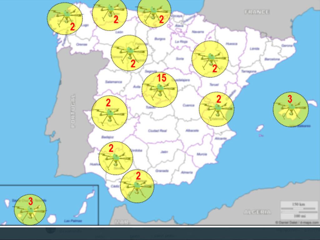 drones DGT mapa verano 2021